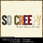 Creepy Alphabet Pack-$3.49 (Ooh La La Scraps)