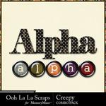 Creepy kit alphabet small