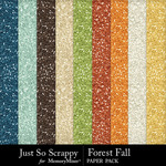 Forest fall glitter papers small