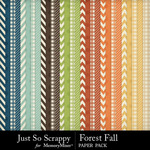 Forest fall pattern papers small
