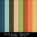 Forest Fall Polkadot Paper Pack-$1.99 (Just So Scrappy)