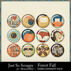 Forest fall flairs medium