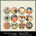 Forest Fall Flairs Pack-$1.99 (Just So Scrappy)