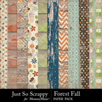 Forest Fall Worn Wood Paper Pack-$1.99 (Just So Scrappy)