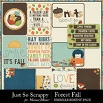 Forest fall pocket scrap cards small