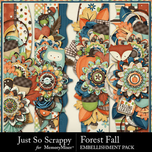 Forest fall page borders medium