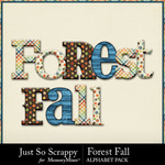 Forest fall alphabets small