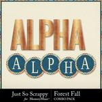 Forest fall kit alphabets small