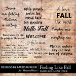 Feeling Like Fall WordArt Pack-$4.99 (Laura Burger)