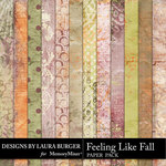 Feeling Like Fall Grunge Paper Pack-$3.99 (Laura Burger)