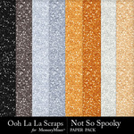 Not So Spooky Glitter Paper Pack-$1.99 (Ooh La La Scraps)