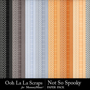 Not so spooky pattern papers medium