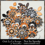 Not So Spooky Layered Flowers Pack-$1.99 (Ooh La La Scraps)