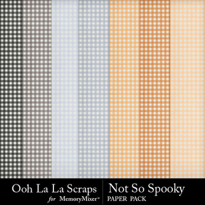Not so spooky gingham papers medium