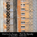 Not So Spooky Wood Paper Pack-$1.99 (Ooh La La Scraps)