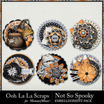 Not So Spooky Cluster Seals Pack-$1.99 (Ooh La La Scraps)