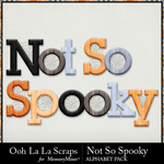 Not So Spooky Alphabet Pack-$3.49 (Ooh La La Scraps)