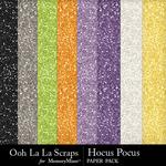 Hocus Pocus OLL Glitter Paper Pack-$1.99 (Ooh La La Scraps)