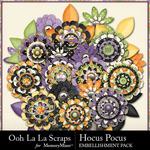 Hocus Pocus OLL Layered Flowers Pack-$1.99 (Ooh La La Scraps)