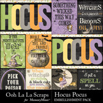 Hocus Pocus OLL Pocket Scrap Cards-$1.99 (Ooh La La Scraps)