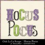 Hocus pocus alphabets small