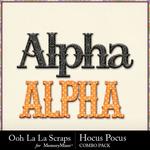 Hocus pocus kit alphabets small