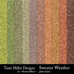 Sweater Weather TM Glitter Sheets Pack-$3.49 (Tami Miller)