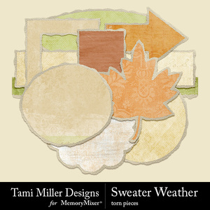 Sweater weather torn papers medium
