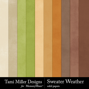 Sweater weather solid papers medium