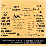 Captured Moments 4 WordArt Pack-$4.99 (Laura Burger)
