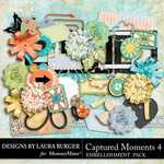 Captured Moments 4 Add On Embellishments-$3.99 (Laura Burger)