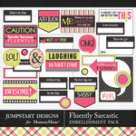 Fluently Sarcastic Journal Bits Pack-$3.99 (Jumpstart Designs)