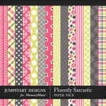 Fluently Sarcastic Patterned Paper Pack-$3.99 (Jumpstart Designs)