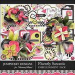 Fluently Sarcastic Embellishment Pack-$5.99 (Jumpstart Designs)