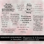 Happiness is a Journey Word Art Pack-$4.99 (Laura Burger)