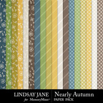 Nearly Autumn Pattern Paper Pack-$2.49 (Lindsay Jane)