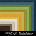 Nearly Autumn Embossed Paper Pack-$2.49 (Lindsay Jane)