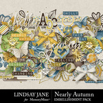 Nearly Autumn Embellishment Pack-$3.49 (Lindsay Jane)