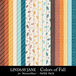 Colors of Fall Pattern Paper Pack-$2.49 (Lindsay Jane)