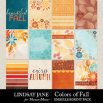 Colors of Fall Journal Card Pack-$2.49 (Lindsay Jane)