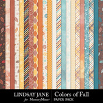Colors of Fall Paper Pack-$2.99 (Lindsay Jane)
