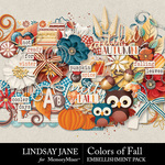 Colors of Fall Embellishment Pack-$3.49 (Lindsay Jane)