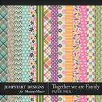 Together We Are Family Pattern Paper Pack-$3.99 (Jumpstart Designs)