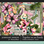 Together We Are Family Pretty Pieces Pack-$3.99 (Jumpstart Designs)