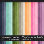 Together We Are Family Plain Paper Pack-$3.99 (Jumpstart Designs)