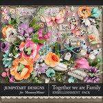 Together We Are Family Embellishment Pack-$5.99 (Jumpstart Designs)