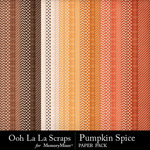 Pumpkin spice kit pattern papers small