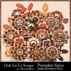 Pumpkin spice layered flowers medium