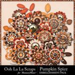 Pumpkin Spice Layered Flowers Pack-$1.99 (Ooh La La Scraps)