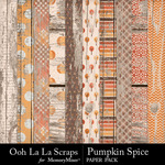 Pumpkin spice wood papers small